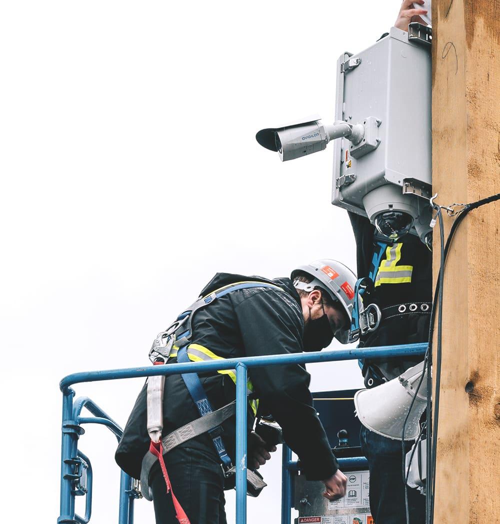 heathrow security surveillance camera install